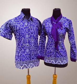 Foto Model Baju Batik Sarimbit Atasan