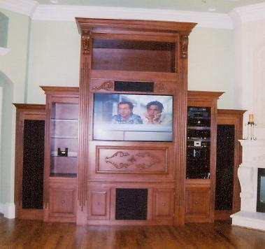 Wood Entertainment Center The Interior Designs