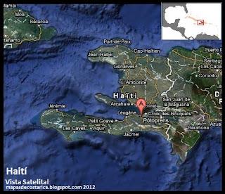 Mapa de Haití, Vista Satelital