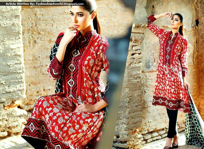 Shariq Textile - Subhata Prints 2015 Collection
