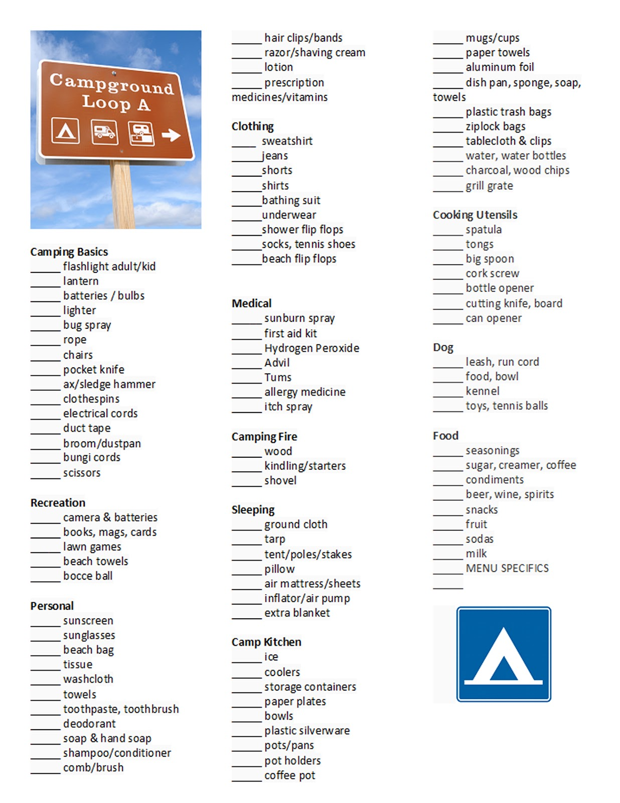 I Love Having A Master Camping Checklist It Saves My Brain From To Work As Much Here Is Copy Of Mine