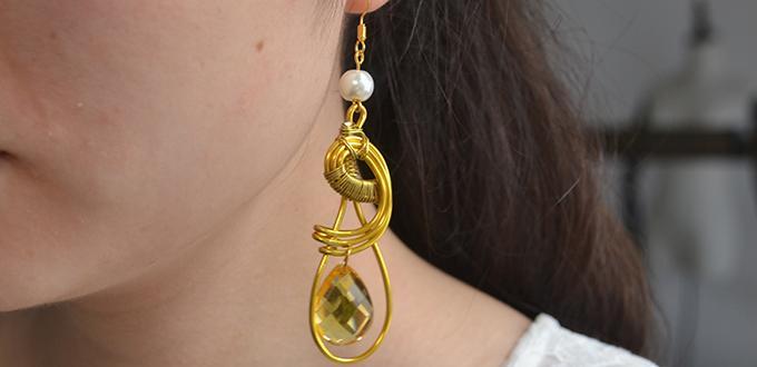 perles accesoires comment faire une paire des boucles d 39 oreilles en or pour les femmes. Black Bedroom Furniture Sets. Home Design Ideas