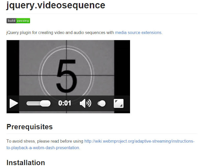 jQuery Videosequence