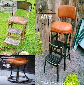 Redo It Yourself Inspirations Junk Yard Step Chair Redo