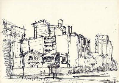 Bocetos de arquitectura urbana