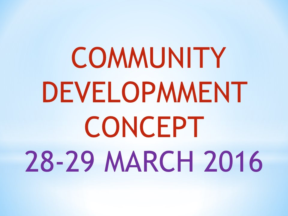9. Community Development Concept