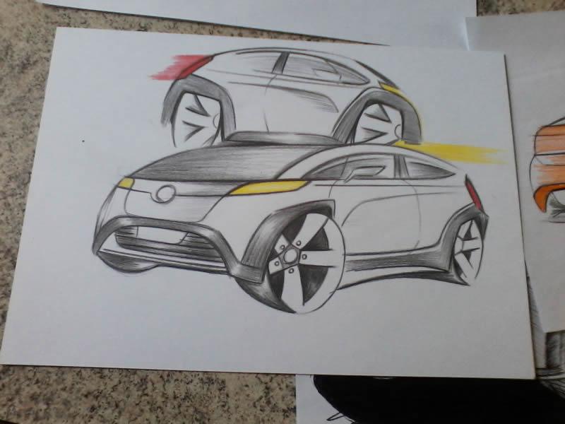 Carro cinza - 3 (desenho)