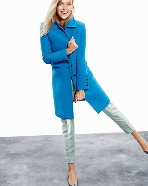 J.Crew bright blue women's coat