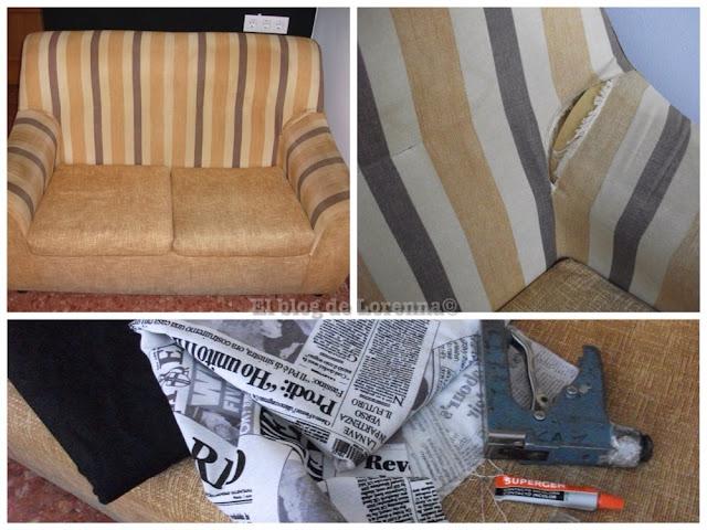El blog de lorenna tapizar un sof low cost - Telas de tapizar sofas ...