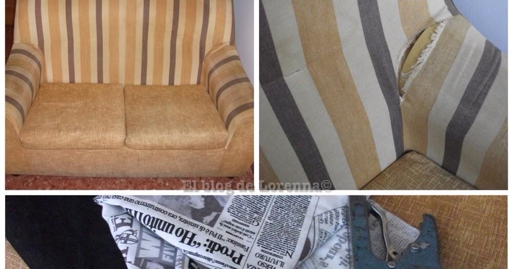 Decoracion mueble sofa como tapizar un sofa paso a paso - Como arreglar un sofa viejo ...