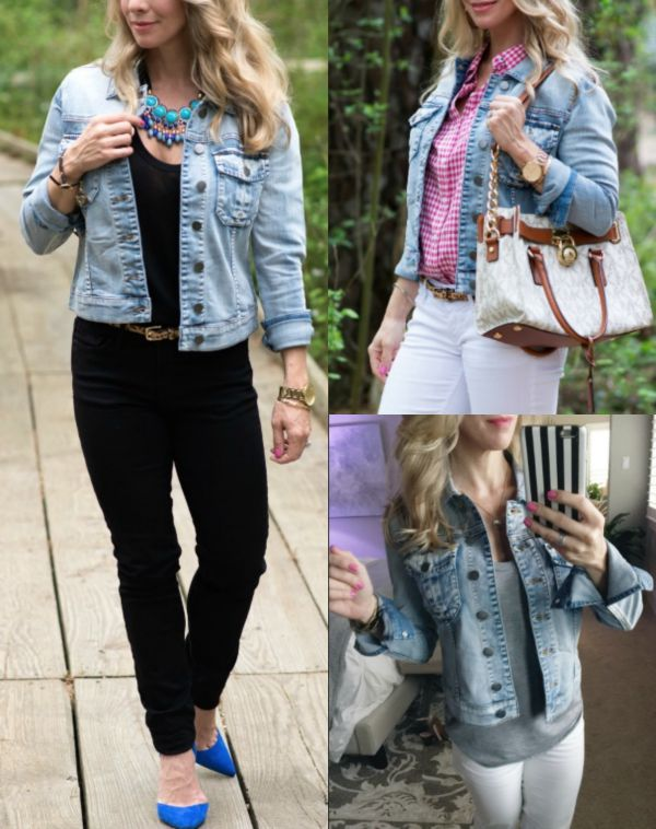 Fall Fashion - Kut from the Kloth denim jacket (Amelia style)