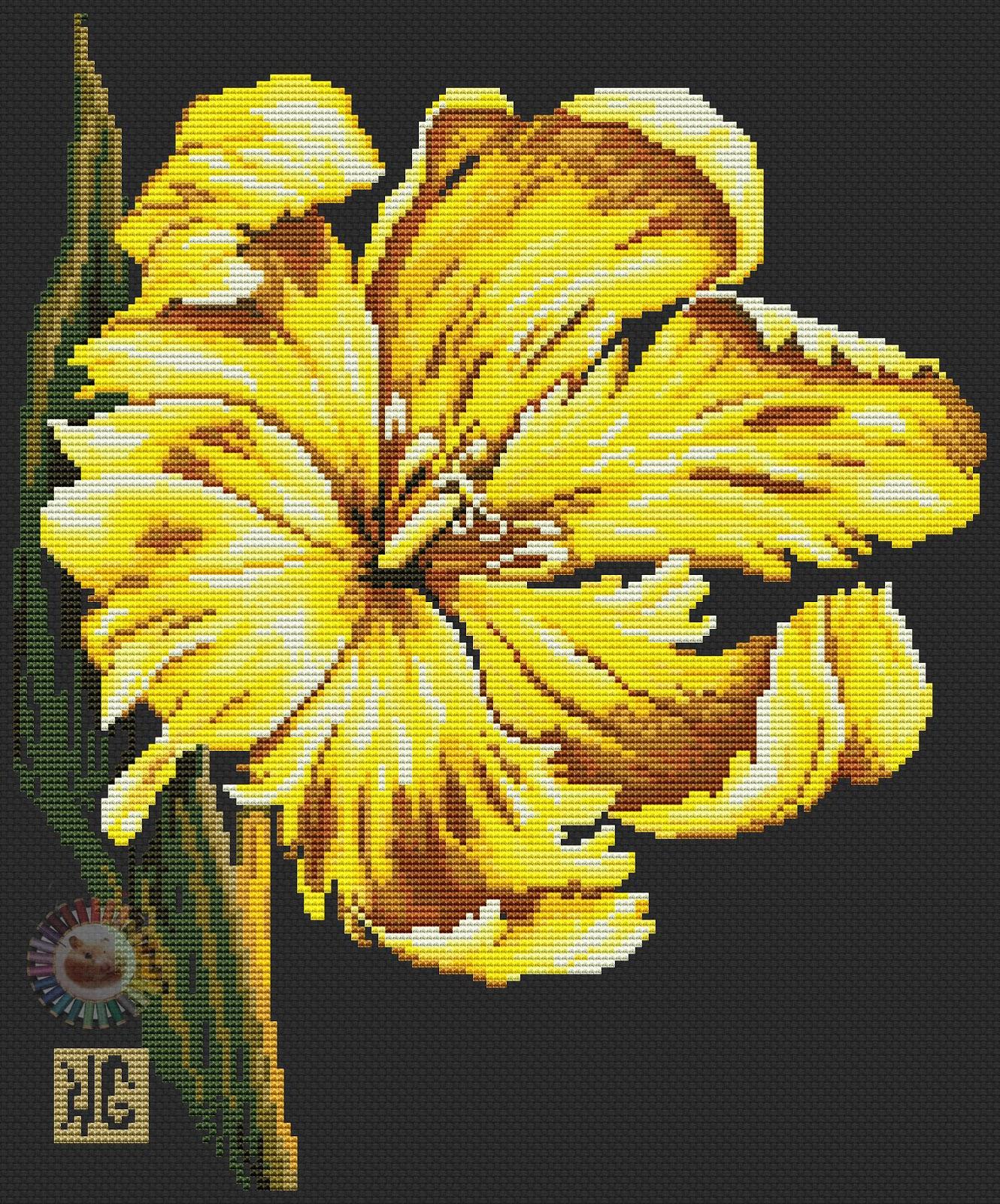 Лилии для вышивки золотом