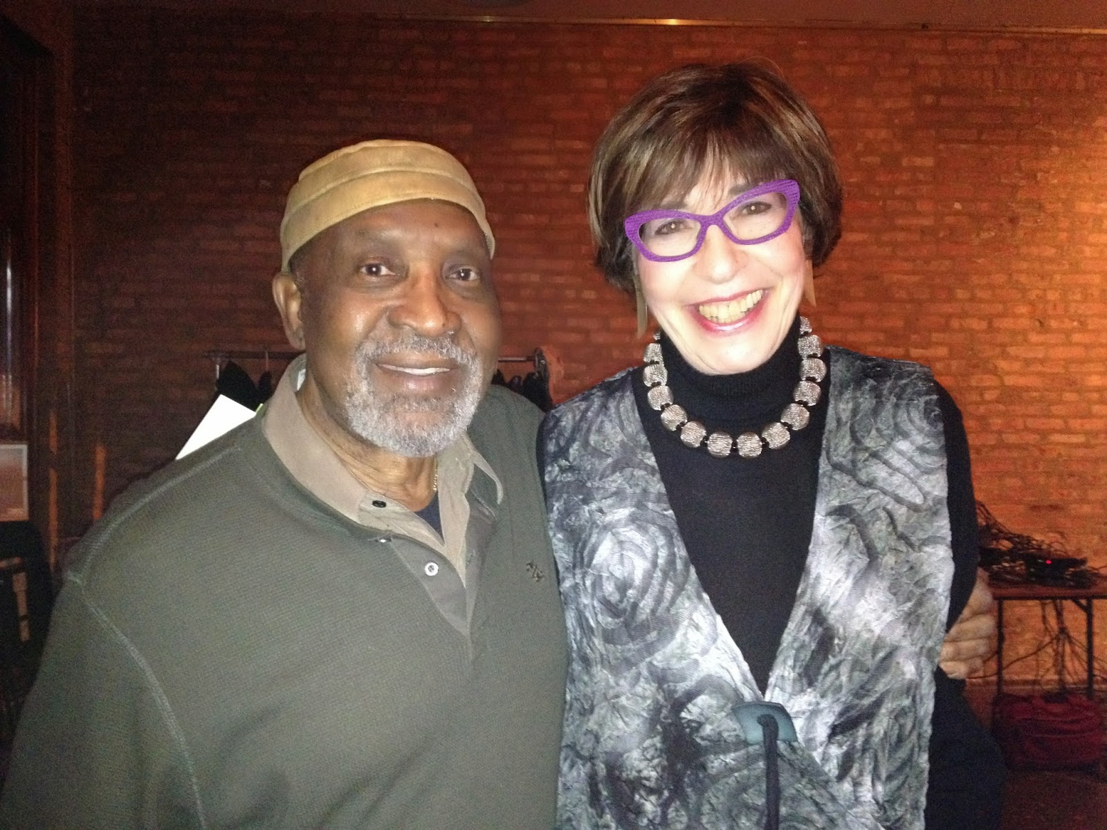 Hyde Park Jazz Society President Charlie Thomas and Secretary Judith Stein