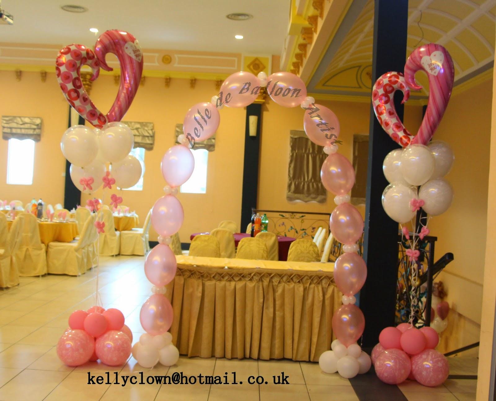 Belle de balloon artist wedding banquet balloon for Balloon decoration for wedding malaysia