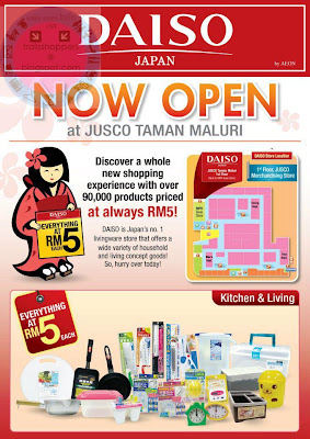 New Daiso Jusco Taman Maluri & DAISO Outlets Malaysia