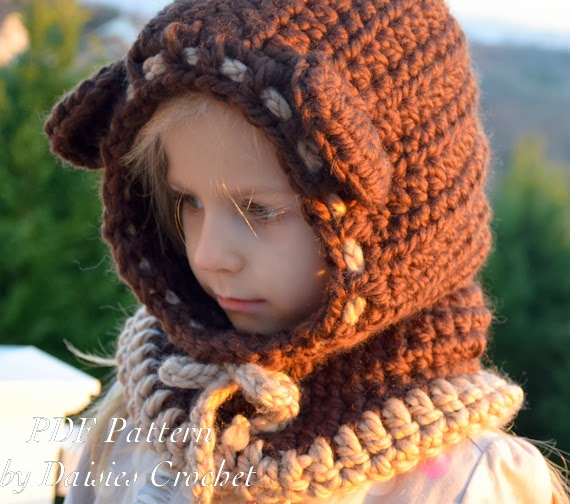 Free Crochet Pattern Toddler Hooded Cowl : Daisies Crochet: Beriane Crochet hooded cowl Pattern. Baby ...