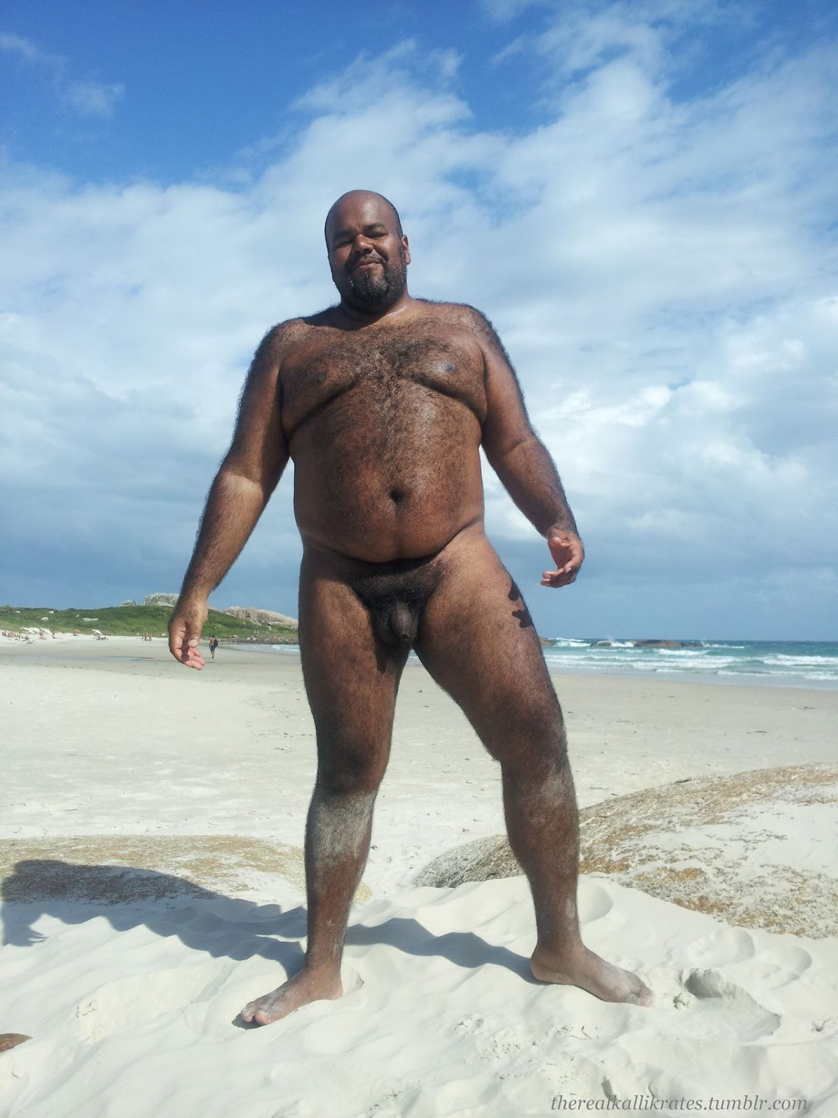 Black Naked Hairy Bear