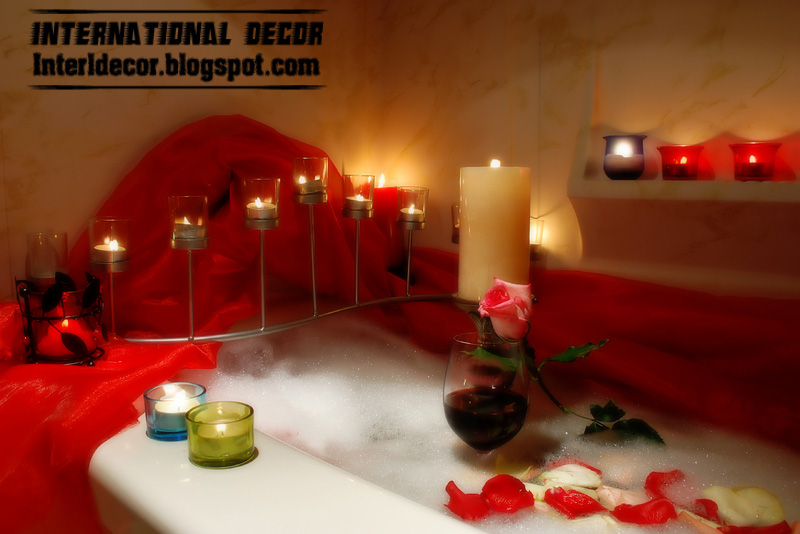 Bathroom decorating ideas for Valentine's day 2013