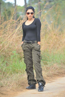 Amala Paul in Tight Black T Shirt and Pants lovely cute Pictures