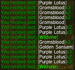 farming wildvine and purple lotus