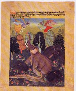 Liberation of Gajendra, Rajasthan Bikaner; C. 1625