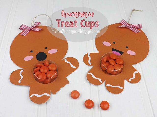 Gingerbread Treat Cup Holders, Treat Cups, Stampin Up Treat Cups, ilove2cutpaper, LD, Lettering Delights, Pazzles, Pazzles Inspiration, Pazzles Inspiration Vue, Inspiration Vue, Print and Cut, svg, cutting files, templates,  EOS Lip Balm Holder