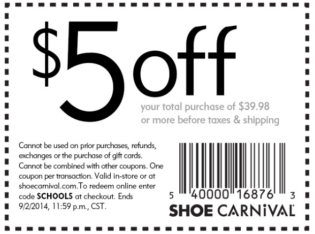 Shoe carnival coupon code