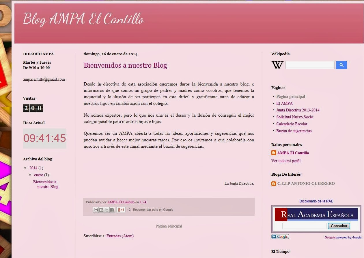 BLOG DEL AMPA EL CANTILLO