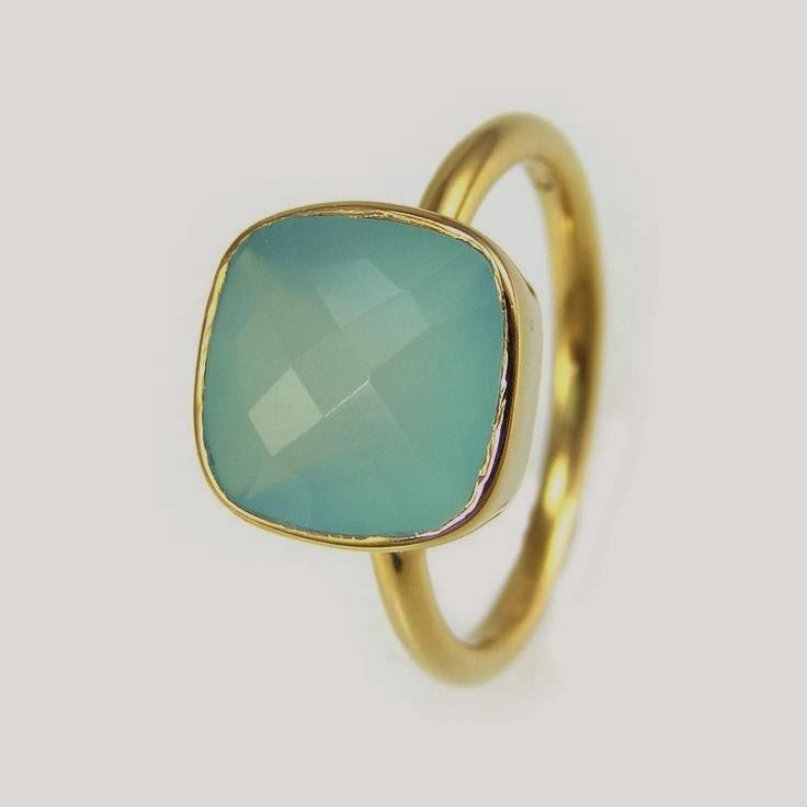anillo aguamarina
