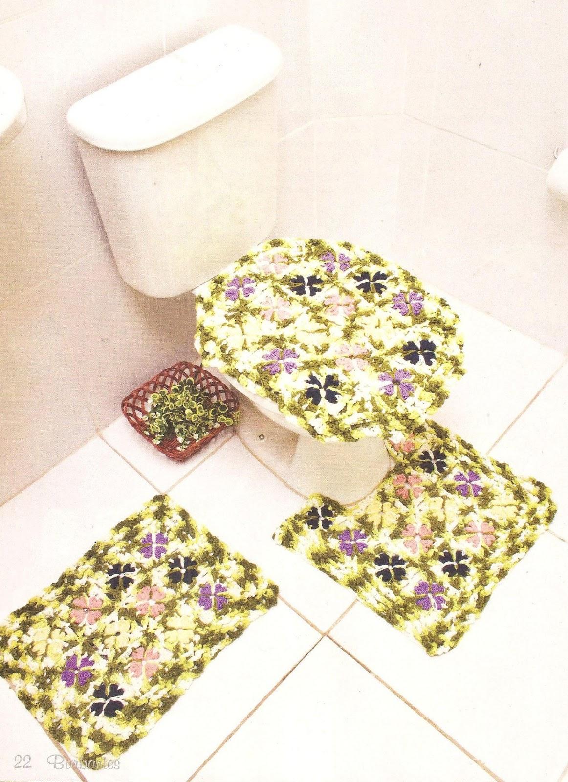 Jogo De Banheiro Completo : Big artes jogo de banheiro completo em croch? com