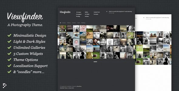 Viewfinder - Photography WordPress Theme Free Download by ThemeForest.