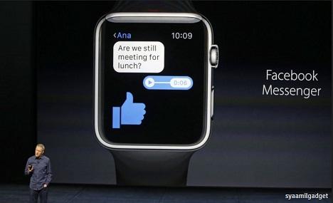Facebook Messenger Resmi Hadir di Apple Watch