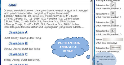 Contoh Tampilan Soal Ukg 2012 Sdn Paguan 1 Taman Krocok Bondowoso