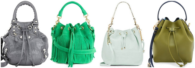 Three of these bucket bags are from designers for thousands of dollars and one is from Deux Lux on sale for $39.99 (regular $120.00). Can you guess which one is the less expensive bag? Click the links below to see if you are correct!
