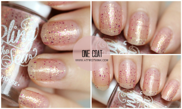 Etude House Bling in the Sea nail polish no. 2 - Magical Kiss one coat