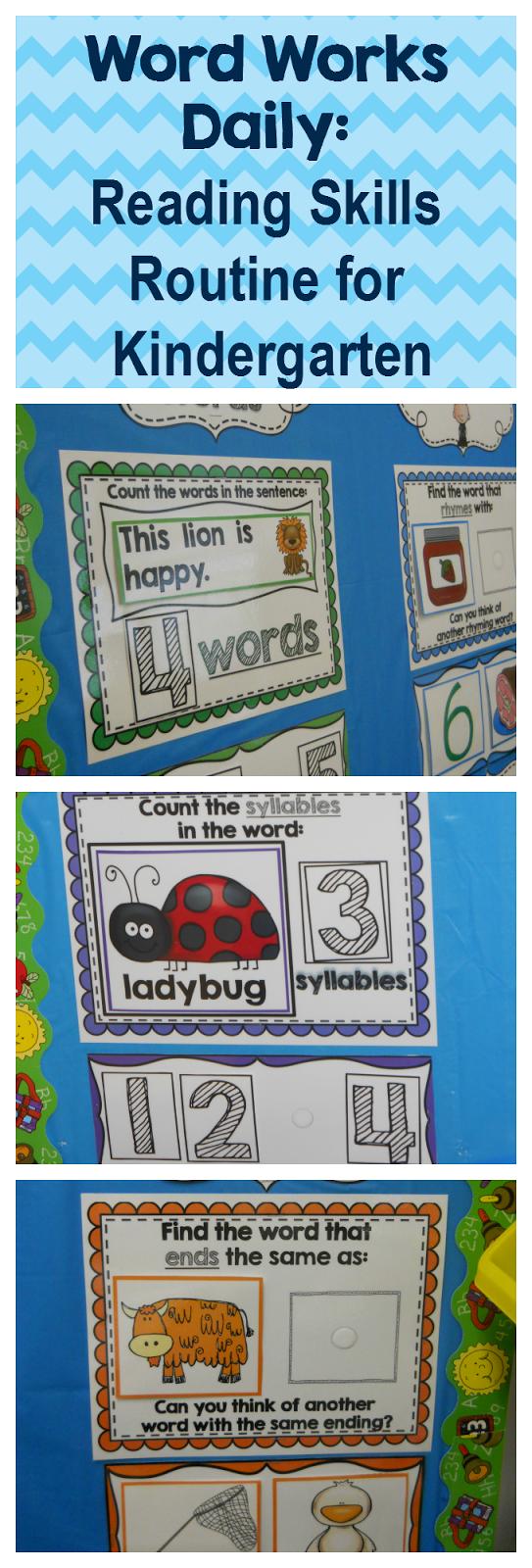 Kindergarten Calendar Math Routine : My kindergarten obsession word works daily reading