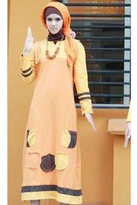UKHTI Teens Gamis UT16 - Orange Muda (Toko Jilbab dan Busana Muslimah Terbaru)