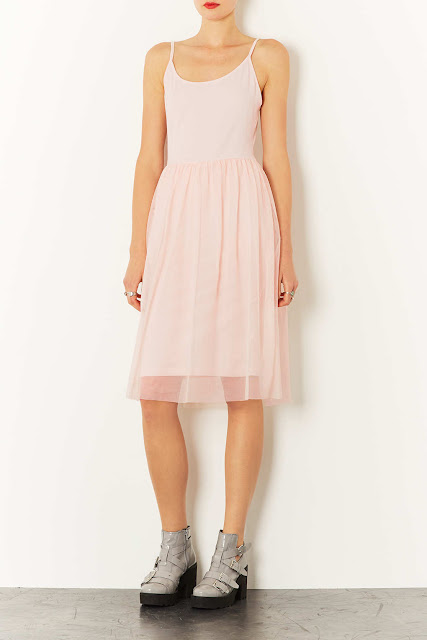 tulle skirt pale pink dress