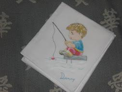 Fralda de pano pintada à mão