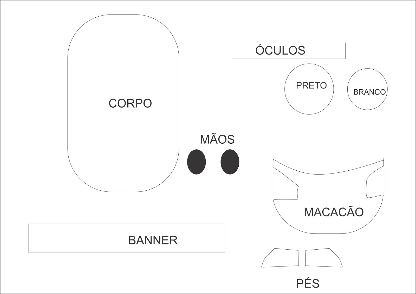 Crachá de identificação com Molde Minnions para  mesa ou decoração de porta e sala