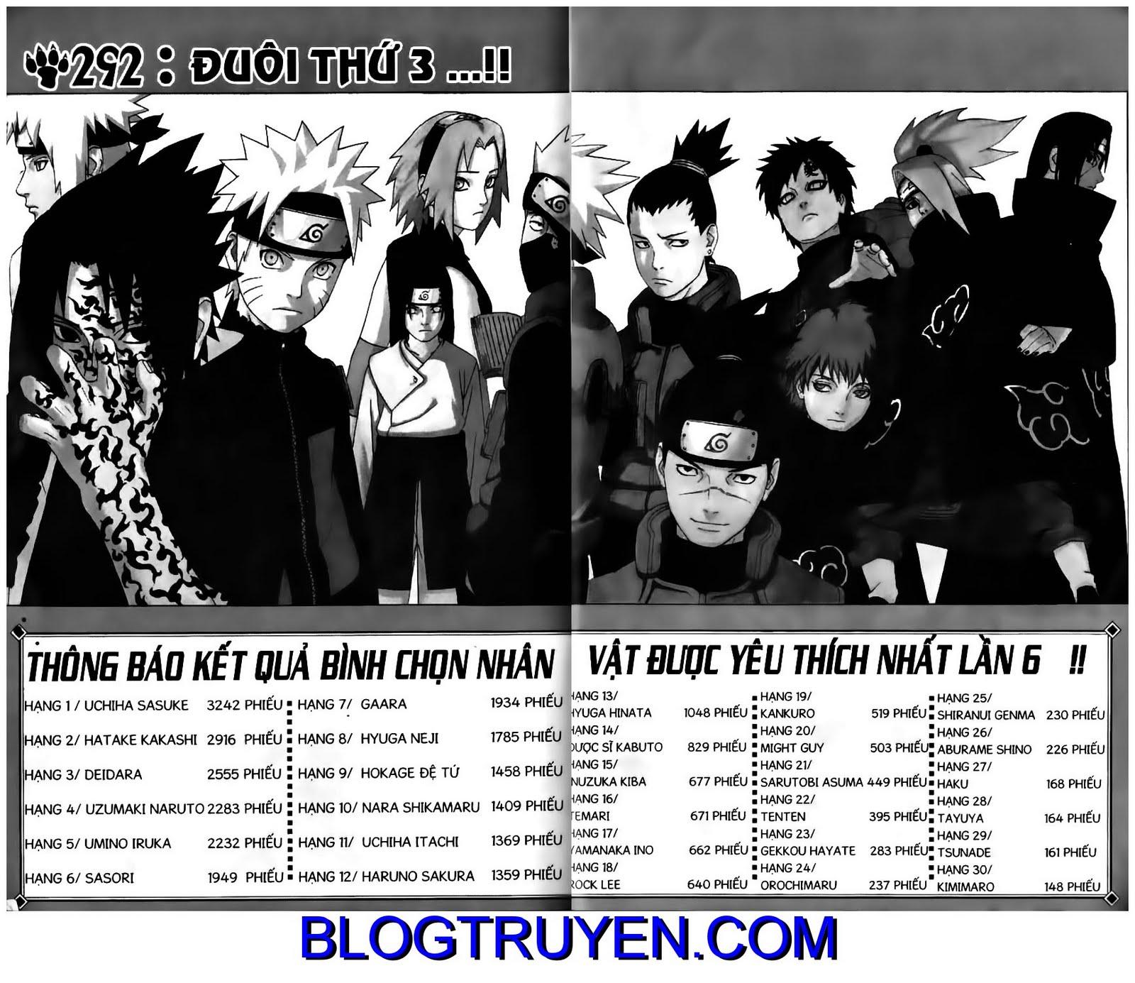Naruto chap 292 Trang 1 - Mangak.info