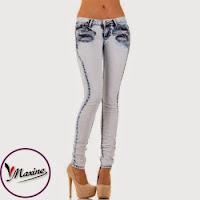 Jeansi skinny, de culoare bleu, cu imprimeu in degrade ( )