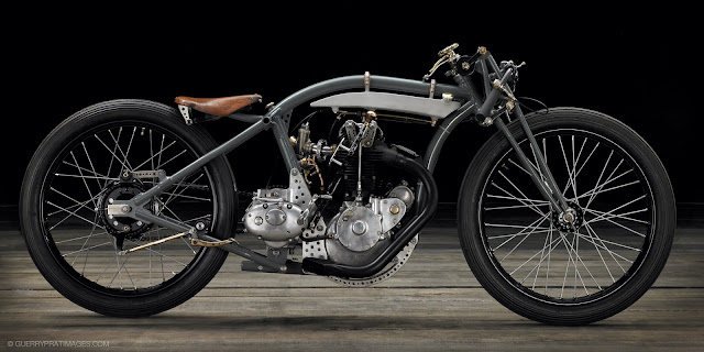 vintage-motorcycle-ART-The Rudge 'bitsa', built by Jean-Claude Barrois.