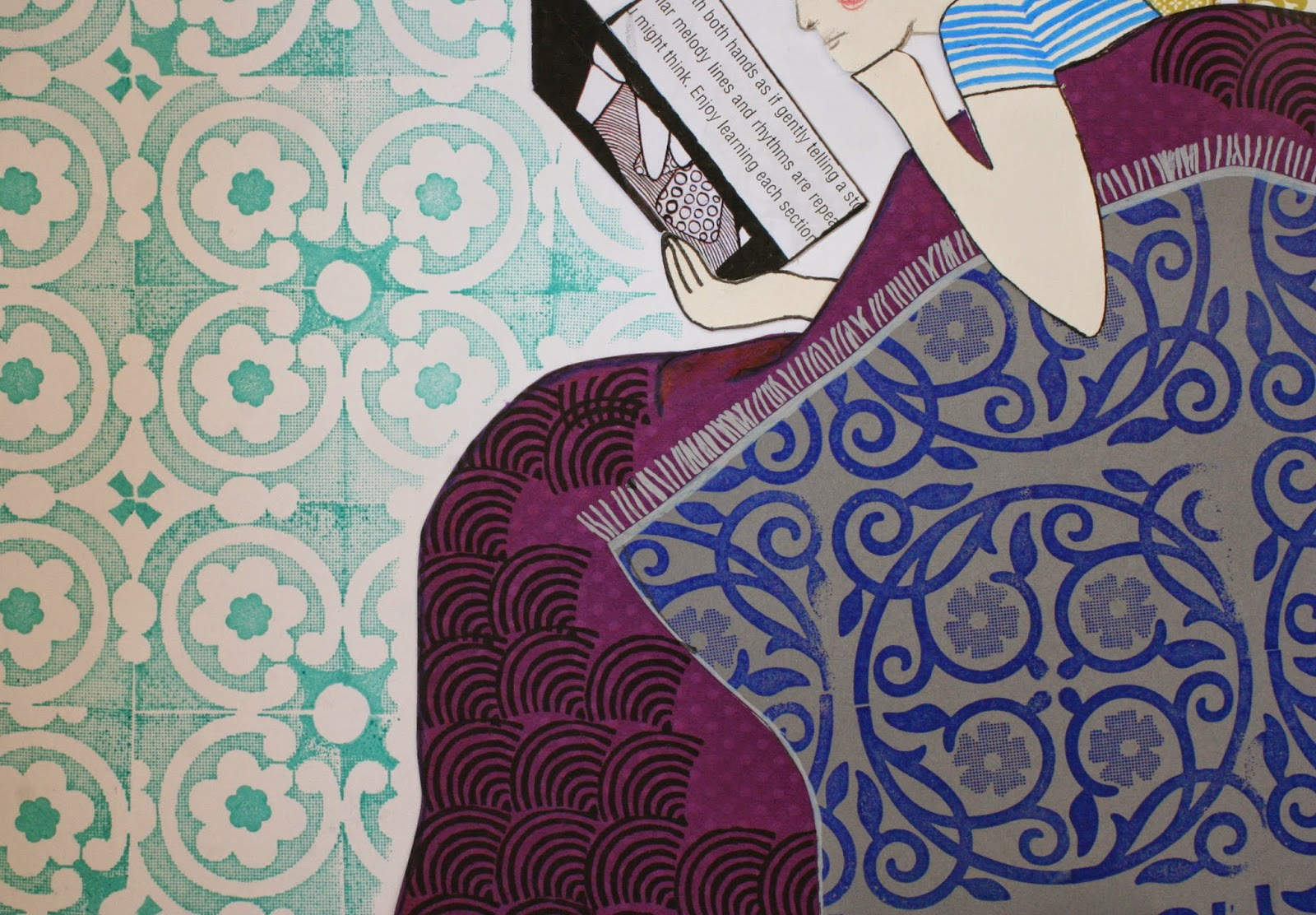 bazarette dimanche pluvieux collage heureux. Black Bedroom Furniture Sets. Home Design Ideas