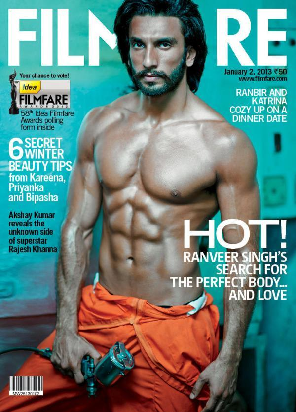 Ranveer Singh On The Cover Of Filmfare Magazine Jan 2013