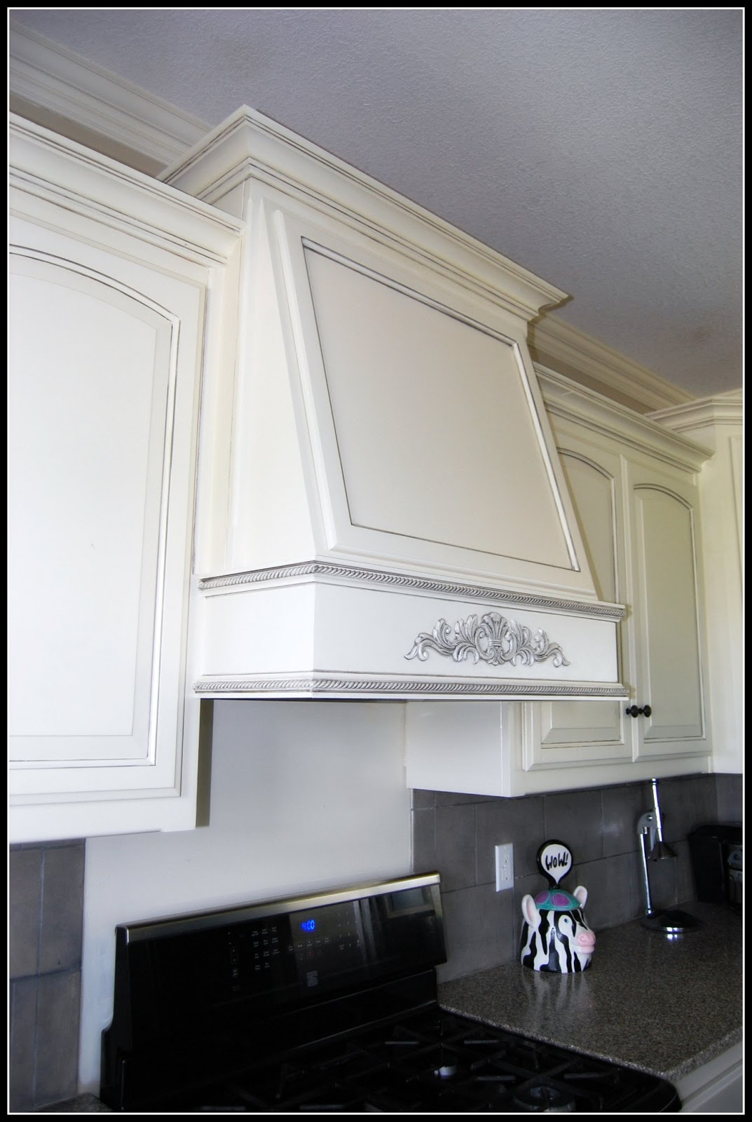 Glazed Architectural Molding : Kcfauxdesign diy decorative hood range vent