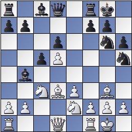 Posición de la partida de ajedrez Portisch - Ulvestad Olaf, después de 12... Ch5