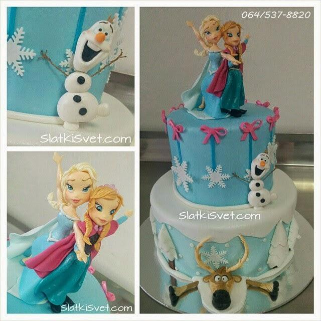 torta ledeno kraljevstvo, frozen cake, birthday cakes, torte beograd, torte novi sad