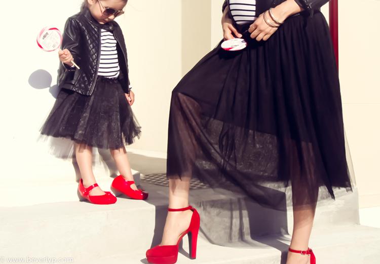 mini me zapatos rojos madre hija