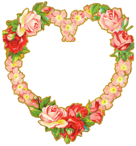 heart floral frame valentine - photo #3